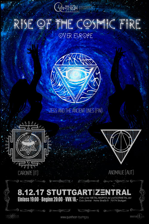 Jess And The Ancient Ones // Caronte // Anomalie Flyer