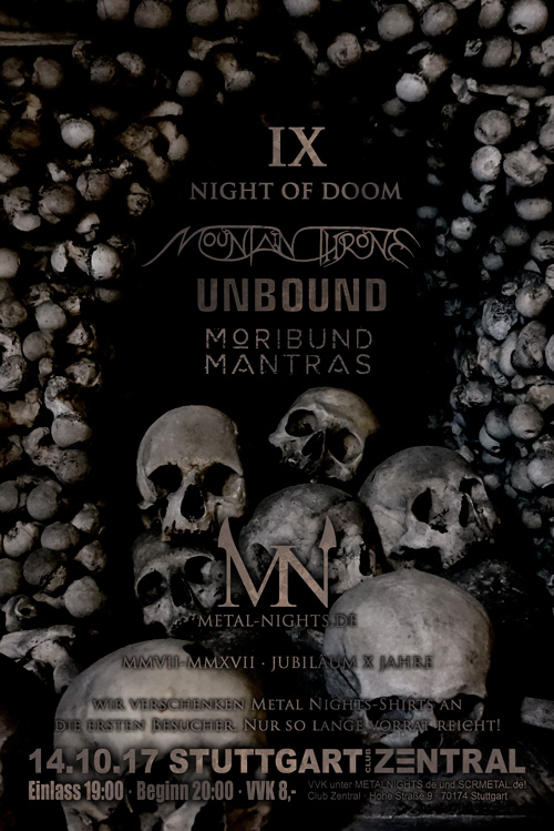 Night Of Doom IX - Mountain Throne // Unbound // Moribund Mantras